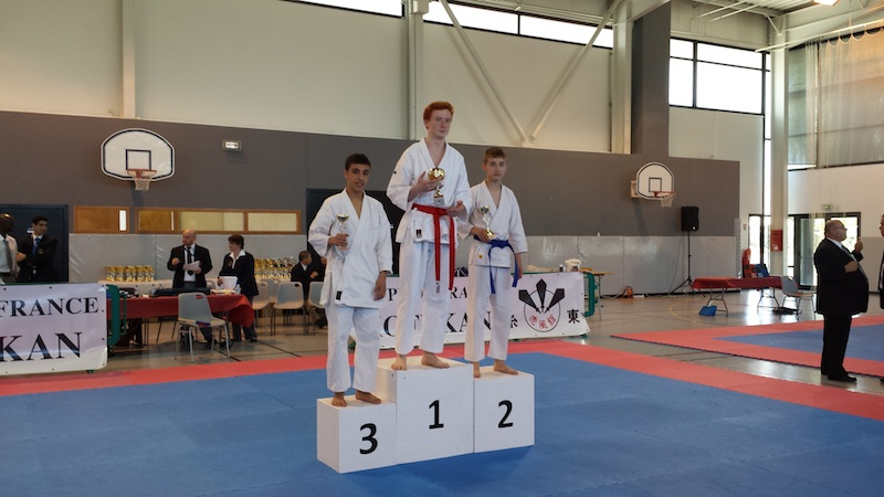 Karate club de Saint Maur - podium Cameron