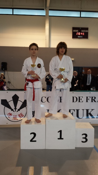 Karate club de Saint Maur - podium Charles