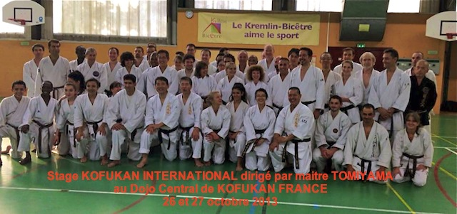 Karate Club de Saint Maur - Stage Kofukan International - Maitre TOMIYAMA