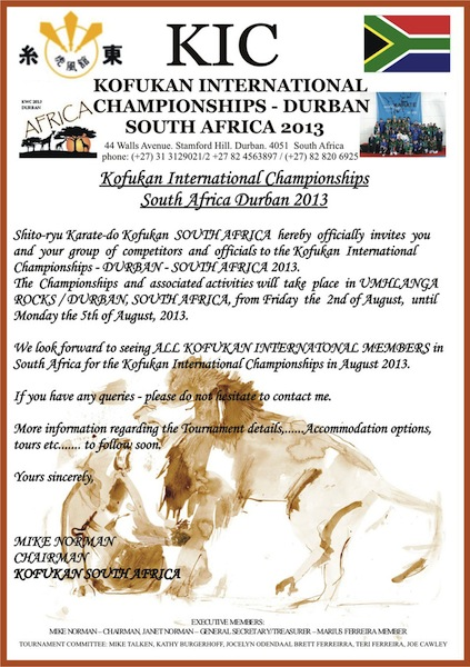 Karate Club de Saint Maur - KWC SOUTH AFRICA 2013